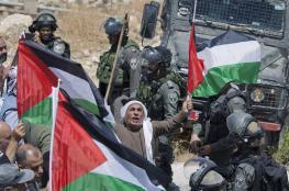 اصابات في قمع الاحتلال لمسيرة سلمية في عصيرة الشمالية