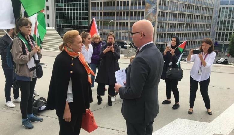 اعتصام في أوسلو رفضا لقرار الاحتلال ضم الأغوار الفلسطينية