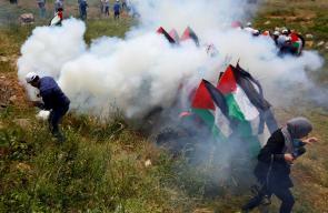 الاحتلال  يقمع فعالية منددة بالاستيطان بالقرب من قرية الساوية جنوب مدينة نابلس