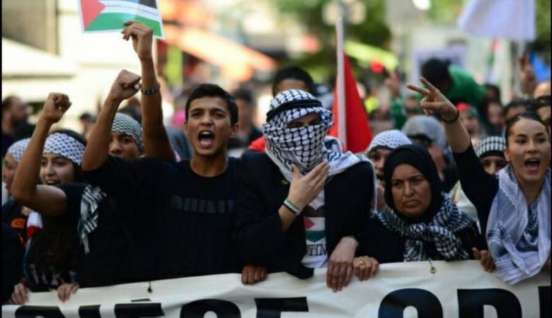 نيويورك: تظاهرة حاشدة مؤيدة للقضية الفلسطينية أمام الأمم المتحدة