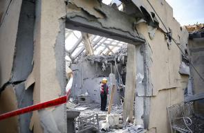 تدمير منزل اسرائيلي في تل ابيب بعد تعرضه لقصف من قطاع غزة