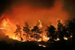 إخلاء مستوطنة غرب رام الله  بسبب الحرائق