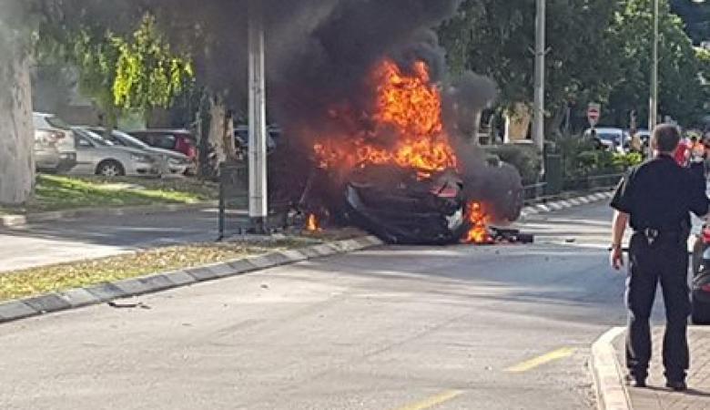 إصابة إسرائيلي بجروح خطيرة بانفجار سيارة مفخخة