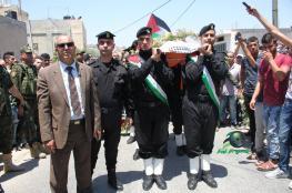 """قباطية تشيع جثمان العميد """" ياسر نزال """""""