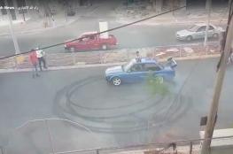 الشرطة  توقف شاباً  أغلق بسيارته  شارعاً  خلال حفل  زفاف برام الله