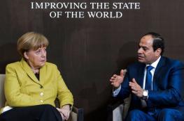 السيسي لميركل : مصر تحتض 5 ملايين لاجئ
