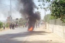 إصابة مواطن بعيار ناري والعشرات بالاختناق بالقرب من رام الله