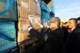 الحكومة تسير 22 شاحنة أدوية الى قطاع غزة
