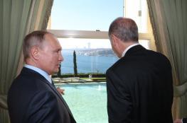 مباحثات بين اردوغان وبوتين قبيل القمة الرباعية