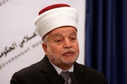 المفتي يطالب العالم بالتحرك لوقف الهجمة الاستيطانية على فلسطين