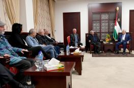 الرئيس يلتقي بوفد منتدى الزيتونة الاسرائيلي في رام الله