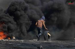 اصابة العشرات واعتقال ناشط اجنبي في قمع الاحتلال لمسيرة كفرقدوم
