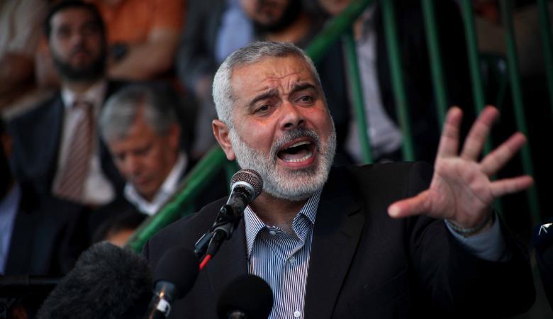 """هنية : حماس توافق على اقامة دولة على حدود عام """" 67 """" بشرط"""