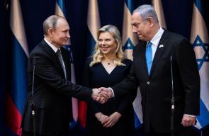 بوتين يصل تل أبيب ويجتمع برئيس وزراء الاحتلال نتنياهو