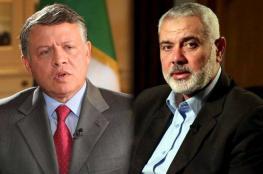 هنية خلال اتصال مع الملك عبد الله : أمن الاردن من امننا