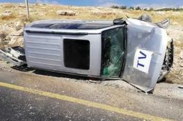 اصابة 3 صحفيين من قناة الجزيرة بحادث سير قرب بيت لحم