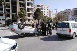 اصابة 129 مواطناً في 216 حادث سير خلال الأسبوع الماضي بالضفة الغربية