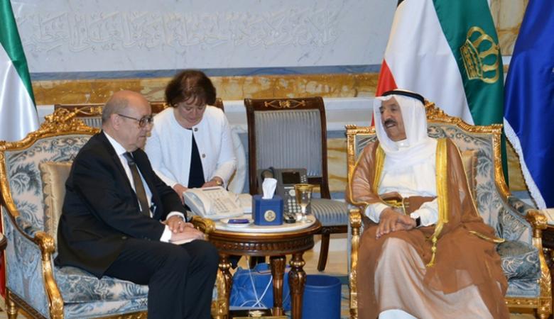 فرنسا تبحث الازمة القطرية مع امير الكويت