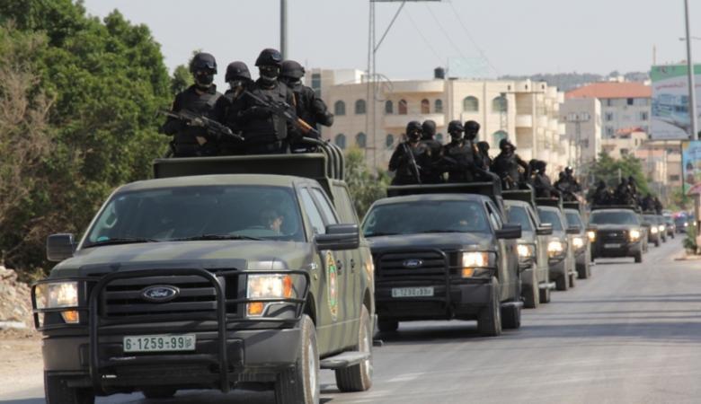 """""""اسرائيل """" تخشى من تدريبات عسكرية للامن الفلسطيني"""