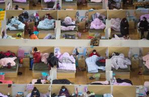من داخل المستشفى المؤقت المقام  فيمدينة ووهان وسط الصين، مركز تفشي