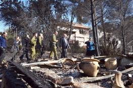 ليبرمان : ردنا على الحرائق سيكون بمزيد من الاستيطان