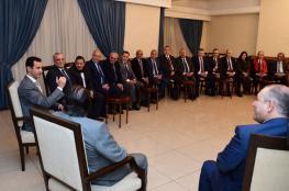 نقيب المحامين الاردنيين خلال لقائه بالاسد : الحرب عليكم لانكم دافعتم عن فلسطين