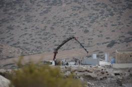 الاحتلال يخطر بوقف البناء في أربعة منازل زراعية جنوب بيت لحم