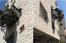 رام الله الاخباري يكشف : هكذا تدهورت الشاحنة واصطدمت في بناية بنابلس