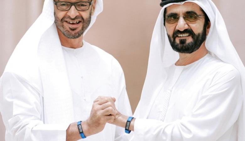 """""""بطل السلام """" حاكم دبي يتغنى بابن زايد بسبب التطبيع"""