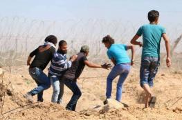 إصابة خطيرة لشاب بالرأس في مواجهات مع الاحتلال شرق غزة