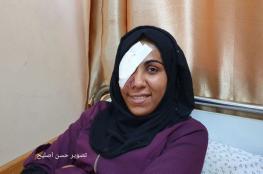 مي ابو رويضة تتحديث لرام الله كيف افقدها جندي اسرائيلي عينها