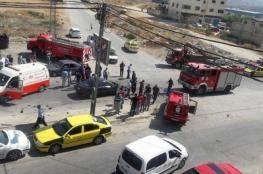 اصابة 6 مواطنين في حادث سير مروع جنوب نابلس