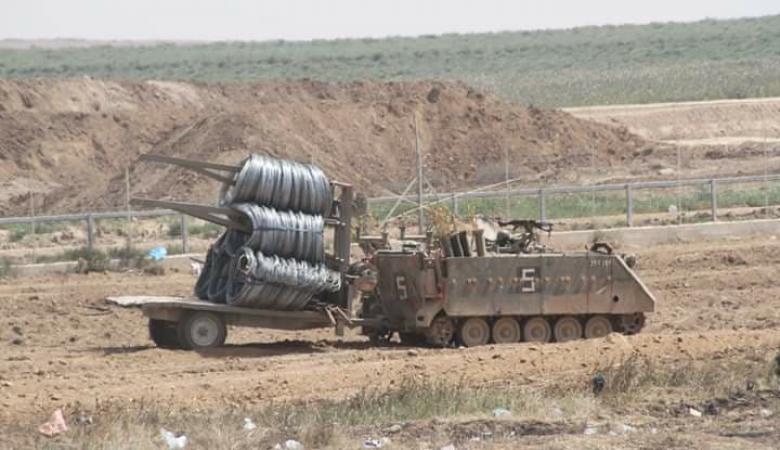 اسرائيل تنشر المزيد من الاسلاك الشائكة على حدود غزة
