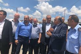 وفد كبير من الداخل المحتل يزور طريق الجامعة العربية الامريكية بجنين