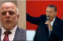 العبادي لاردوغان : معركة الموصل عراقية ولا نريد مساعدتكم