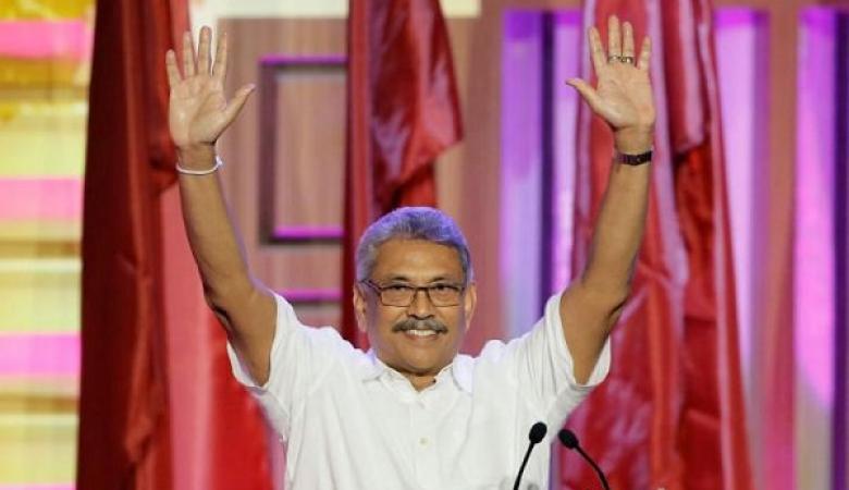 غوتابايا راجاباكسا يعلن فوزه في الانتخابات الرئاسية السريلانكية
