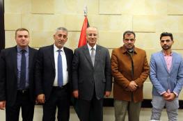 رئيس الوزراء يلتقي بوفد من نقابة المهندسين برام الله