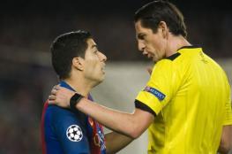 حكم مباراة برشلونة وباريس سان جيرمان مهدد بالإيقاف بعد الفضائح