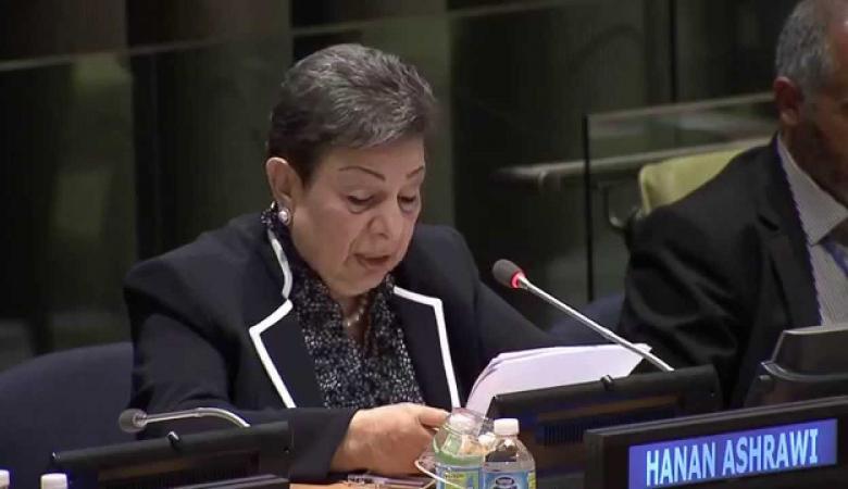 عشراوي: إعلان اتفاق المصالحة يشكل نقلة نوعية للقضية الفلسطينية