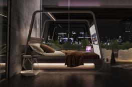 """الحلم تحقق .. """"سرير تلفزيوني ذكي لزيادة الرفاهية """""""