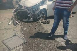 9 اصابات في حادث سير غرب سلفيت