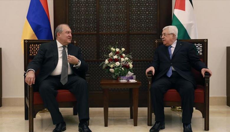الرئيس  يستقبل نظيره الأرميني في بيت لحم
