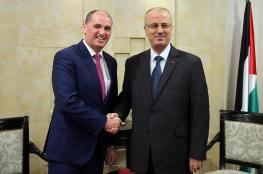 الحمد الله يستقبل وزير الدولة الايرلندي لشؤون الدفاع