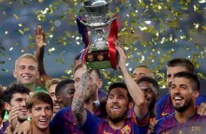 برشلونة يتوج بلقب كأس السوبر الاسباني للمرة الثالثة عشر في تاريخه