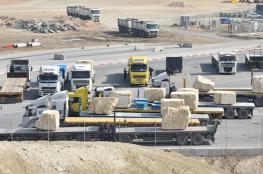 تحرك فلسطيني لمواجهة قرار منع التصدير عبر الاردن