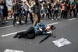 سيارة تدهس حشداً لمتظاهرين من اليمين المتطرف ومناهضين لهم في فيرجينيا