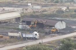 """الاحتلال يصادر """" 60 """" طناً من الاخشاب جنوب غرب جنين"""