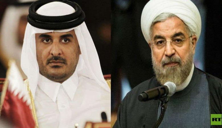 في اتصال هاتفي مع أمير قطر.. روحاني يدعو الدول الإسلامية لرد قوي على جرائم إسرائيل