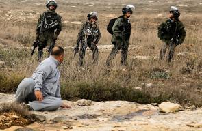 قوات الاحتلال تمنع المواطنين من التوجه الى اراضيهم قرب مستوطنة حومش المخلاة