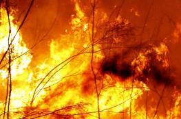 شاهد ..حرائق ضخمة في مكة المكرمة